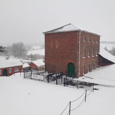 Crofton Pumping Station in the snow 2019