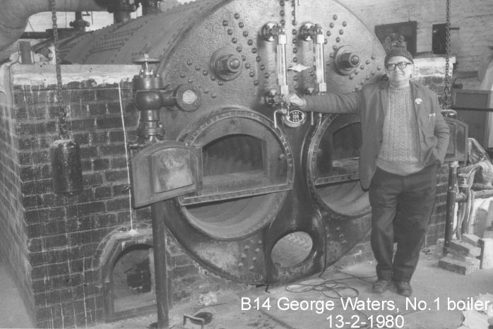George Waters with boiler No. 1