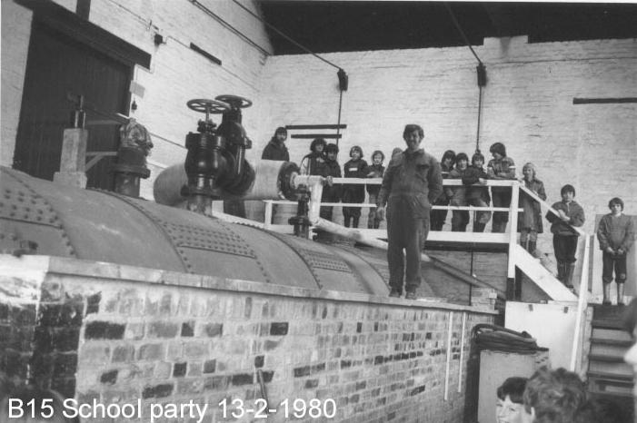 School party visit 1980