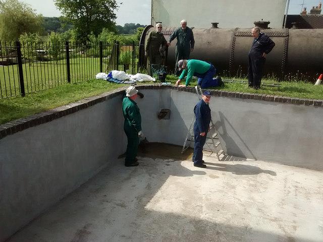 Repair works to the boiler head pond